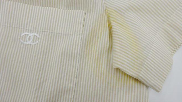 シャネルシャツ脇染み抜き2