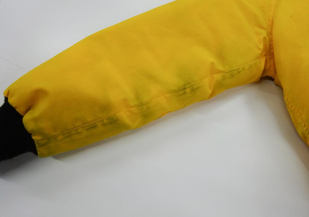 カナダグースファー付きダウン黒ずみクリーニング例03