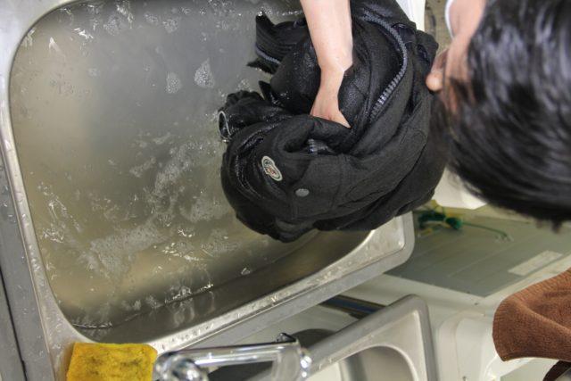 ウールダウン洗い1