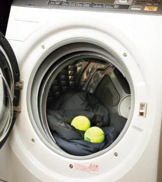 乾燥機にテニスボール