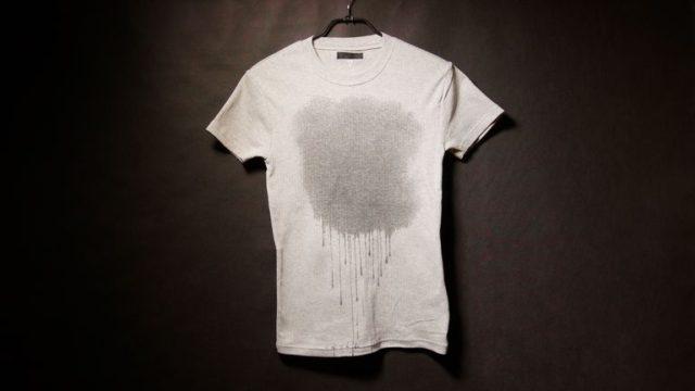 シミの付いたTシャツ